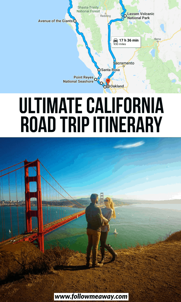 ultimate california road trip itinerary