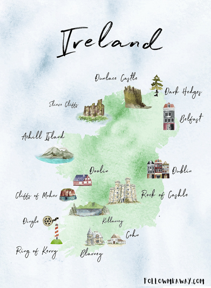 Map Of Ireland Kerry Region.The Perfect Ireland Road Trip Itinerary You Should Steal Follow Me