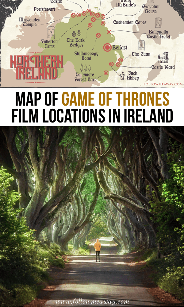 Interactive Map Of Ireland For Kids.3 5 Day Game Of Thrones Locations Ireland Itinerary Follow Me Away