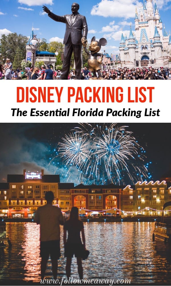 The essential disney packing list will tell you what to pack for Florida! | what to pack for disney | what to wear to disney | florida packing list | disney packing list | packing for disney | packing for florida #disney #florida #packing