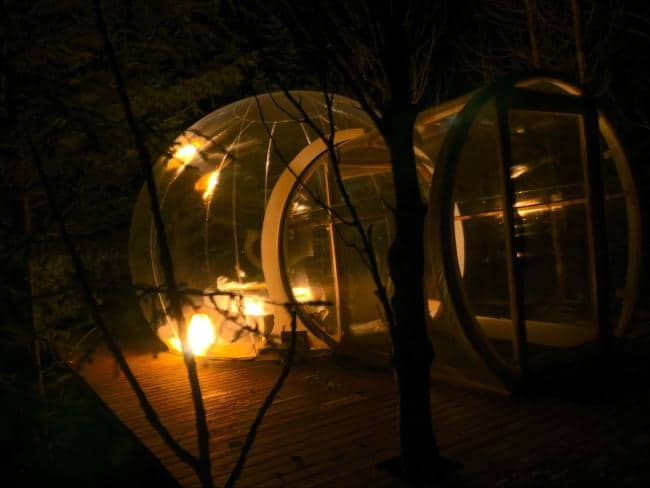 stay at the bubble hotel for one of the coolest things to do in iceland
