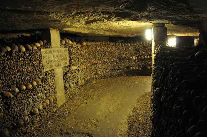see the catacombs in paris during your paris itinerary