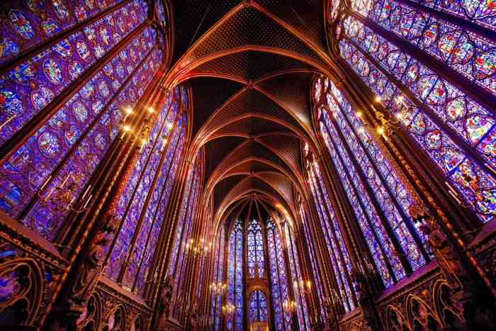 Saint Chapelle is home to some gorgeous stained glass and one of the most beautiful places in Paris