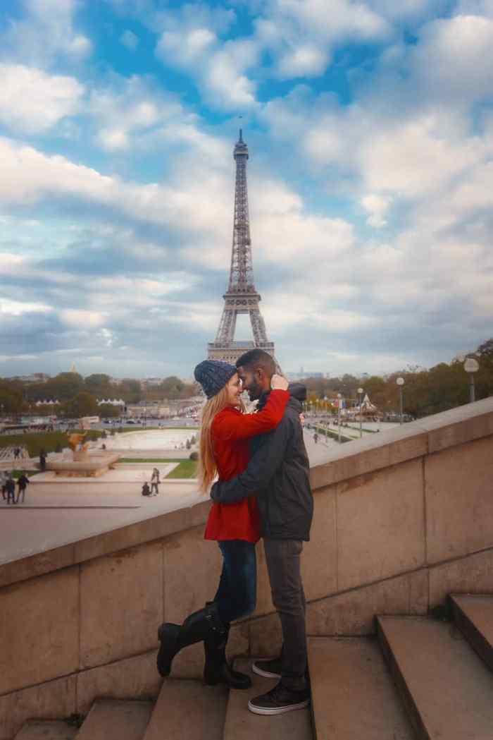 torcadero in paris couples photos in paris eiffel tower in paris