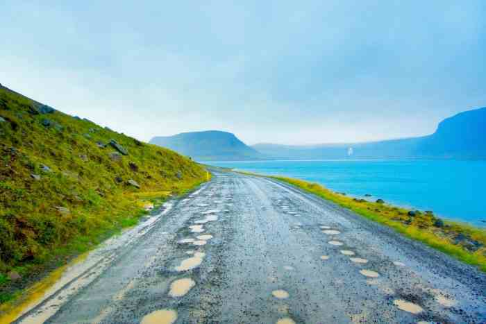 What To Know Before Visiting The Westfjords Iceland | Driving in Westfjords Iceland is pretty bad with potholes and roads