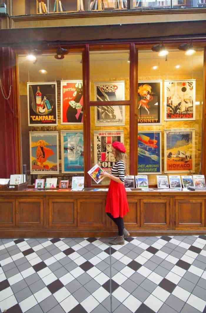 Visit unique bookstores in Paris at Passage Jouffroy shopping arcade | best things to do in Paris