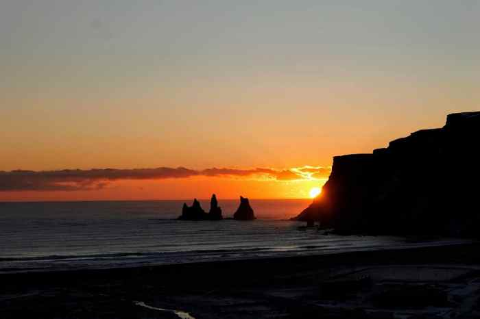 Days last longer during spring in Iceland | midnight sun in Vik Iceland