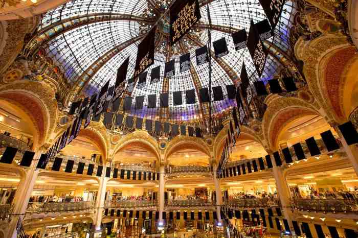 Galeries Lafayette is the largest and most opulent covered passage in Paris | Paris shopping at Galeries Lafayette