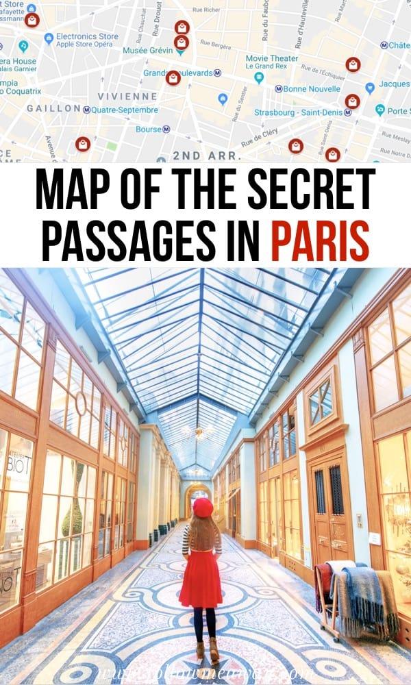 Map Of The Secret Passages Of Paris | Paris Covered Passages You Must See | Secret Things To Do In Paris | Best things to do in Paris | Paris travel tips | hidden paris tips #paris