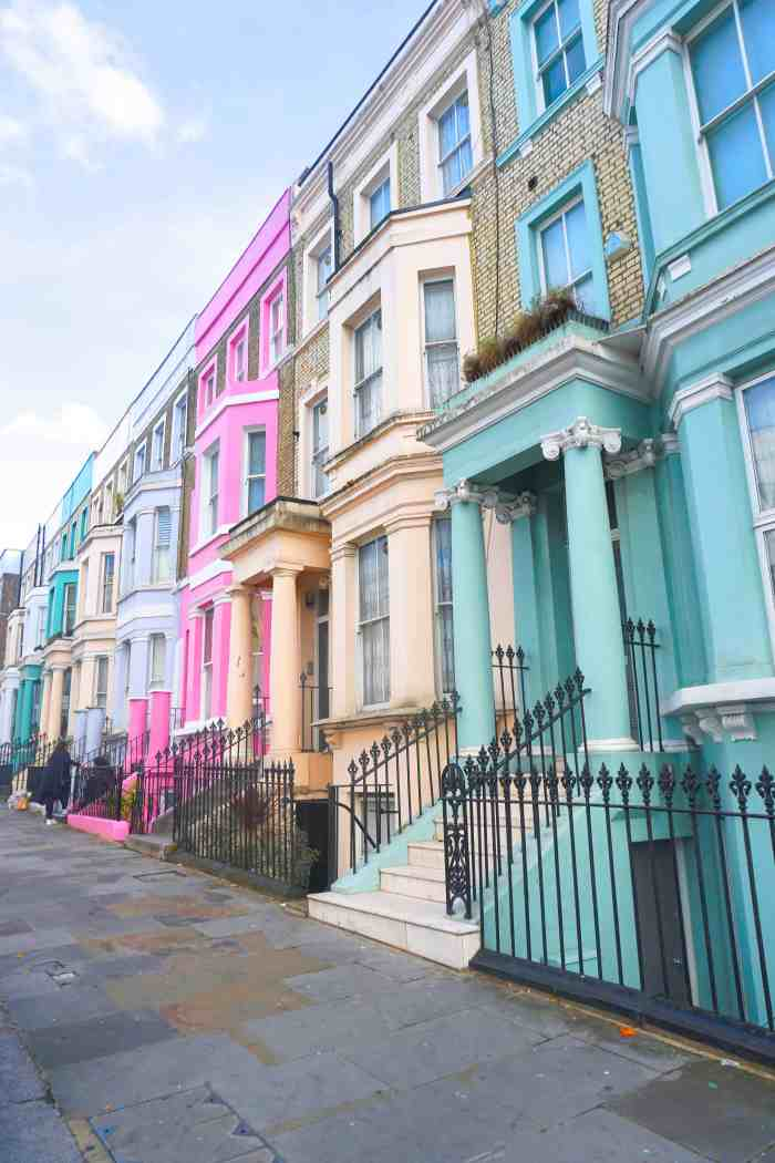 Westbourne Park Road is the most colorful streets in london | cutest streets in London