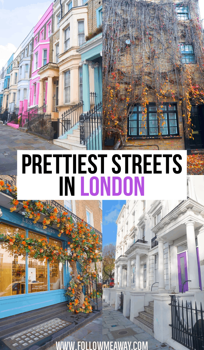 Prettiest Streets In London | Best London Streets | Best instagram spots in London | things to do in London | london travel tips | best places to see in London #london