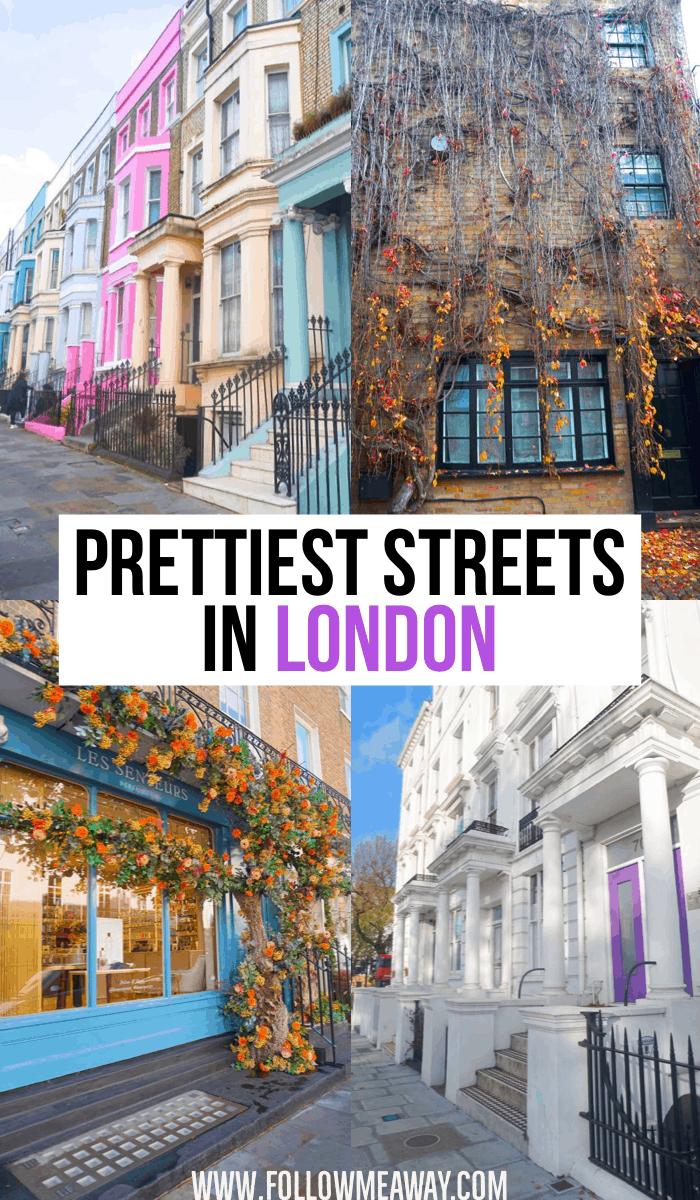 Prettiest Streets In London | Best London Streets | Best instagram spots in London | things to do in London | london travel tips | best places to see in London #london
