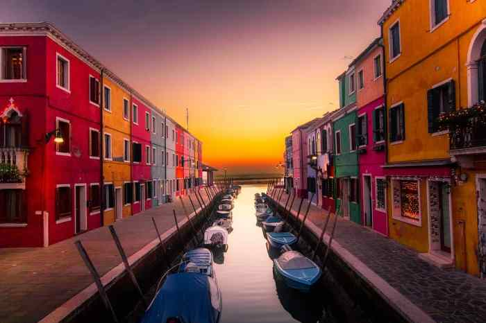 Burano is a beautiful Italian Island near Venice known for colorful buildings