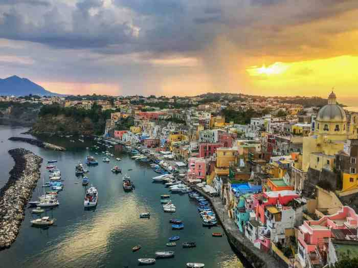 Procida is the smallest Island in italy off the coast of Naples