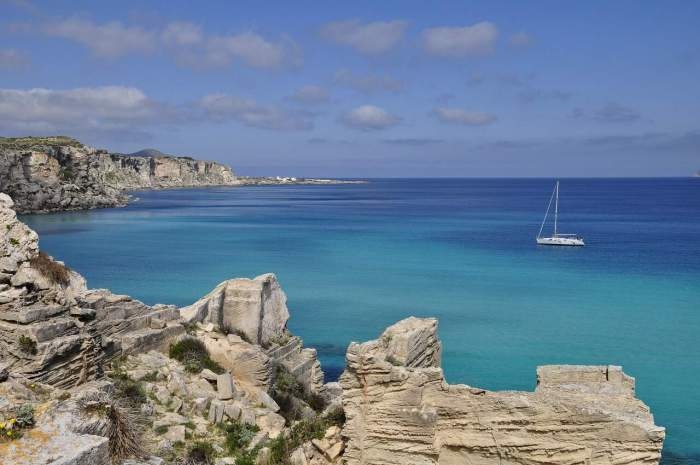 Favignana in Sicily is one of the best beaches in the country