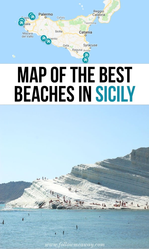 Map Of The Best Beaches In Sicily | Best things to do in Sicily Italy | Best beaches in Italy | best Italian beaches you must see | what to do in Sicily on your first trip