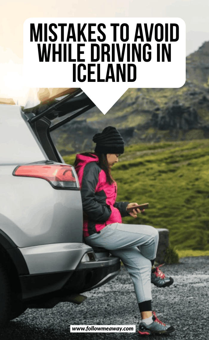 mistakes to avoid when driving in iceland