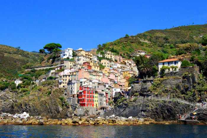 Riomaggiore is one of the best places to stay in Cinque Terre Italy because it is so large