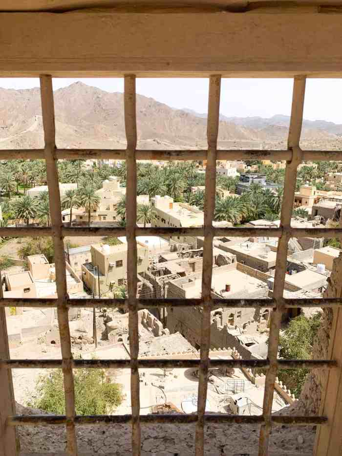 view through a window at Bahla Fort