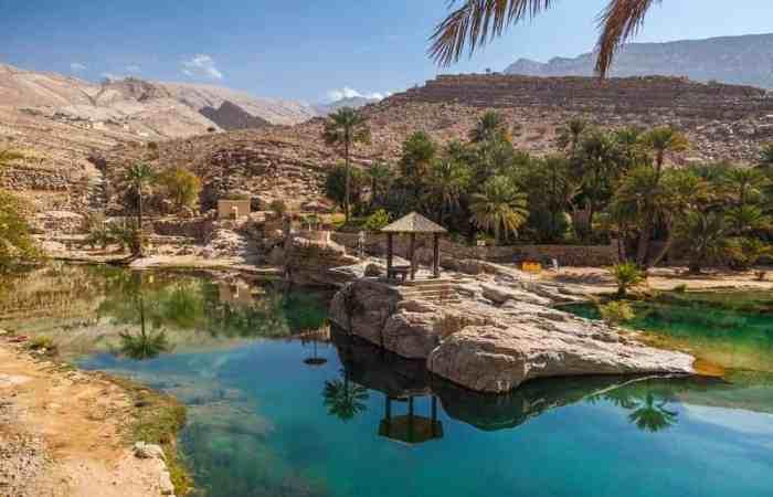 The beautiful Wadi Bani Khalid in Oman