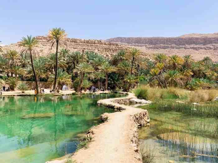 Fun pathway at Wadi Bani Khalid