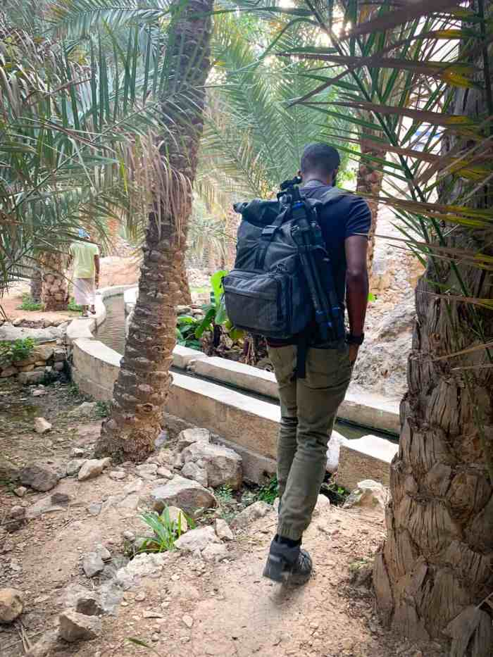 Wadi Tiwi irrigation channels