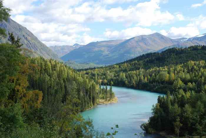 Kenai river is great for fishing on your Alaska itinerary