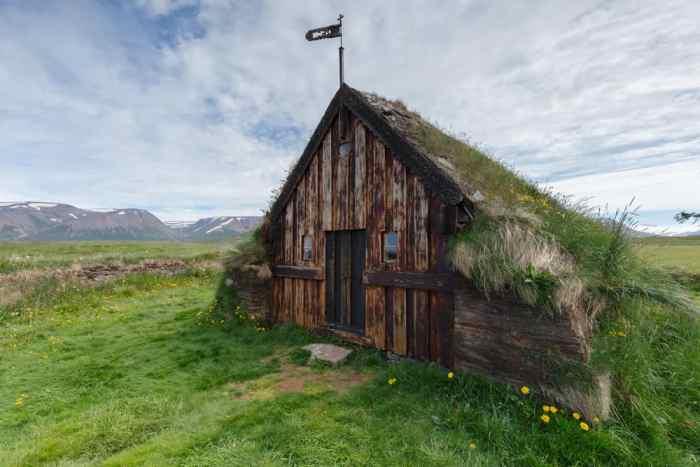 Grafarkirkja Church is the oldest turf church in Iceland