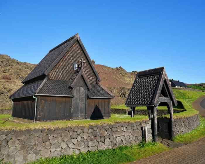 Heimaey Stave Church is one of the most unique churches in Iceland