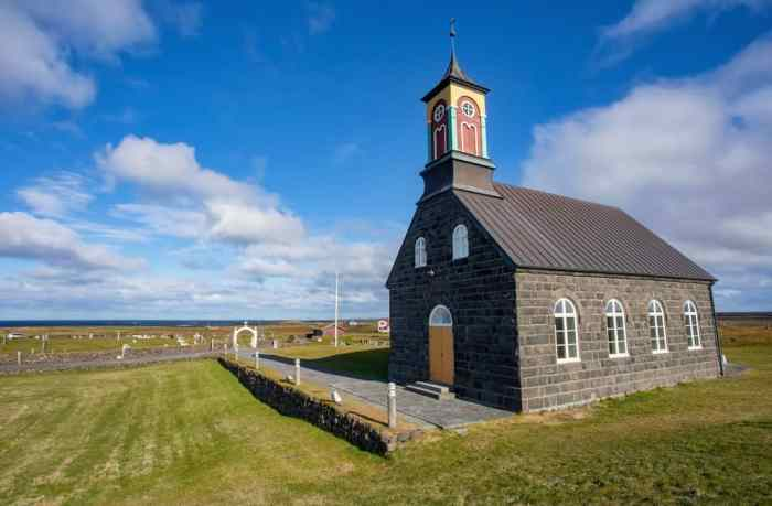 Hvalsneskirkja Church is a pretty Icelandic church