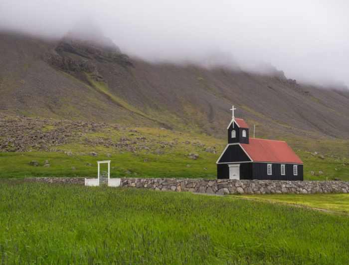 Raudisandur Church is another black church in Iceland