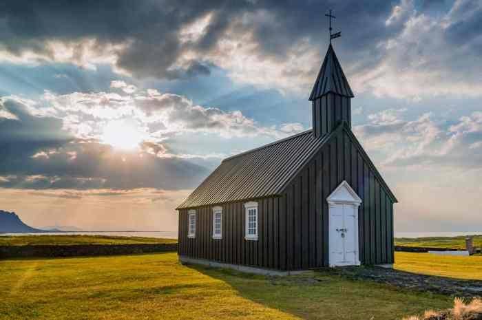 Búdakirkja Church is one of the famous Black churches in Iceland