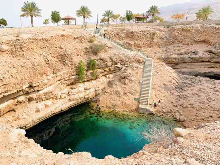 Bimmah Sinkhole offers stunning views in Oman