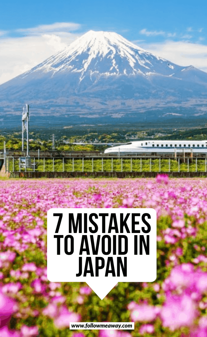 7 mistakes to avoid in japan