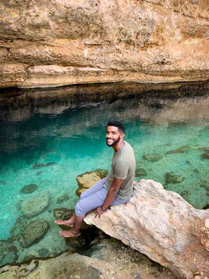 The fish nibbling your dead skin at Bimmah Sinkhole