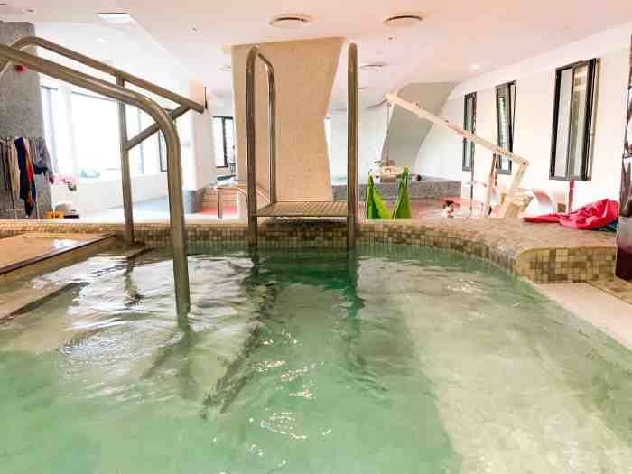 Rudas baths hottest pool