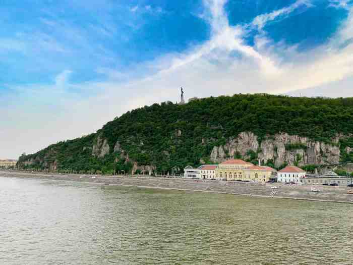 Rudas Baths Budapest from across the Danube River