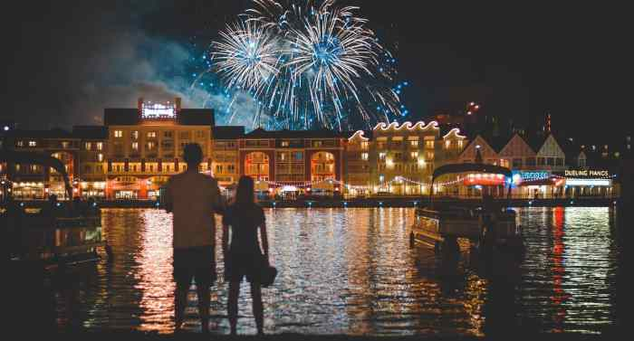 Fireworks over disney's boardwalk