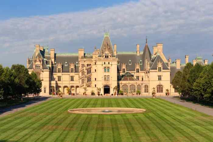 Exterior of Biltmore Estate, a grand American castle