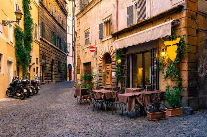 potential noisy dining option in Italy