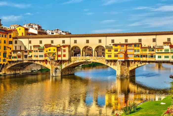 The Ponte Vecchio is a bridge that crosses the Arno river and is filled with shops, making it a must see during your one day in Florence