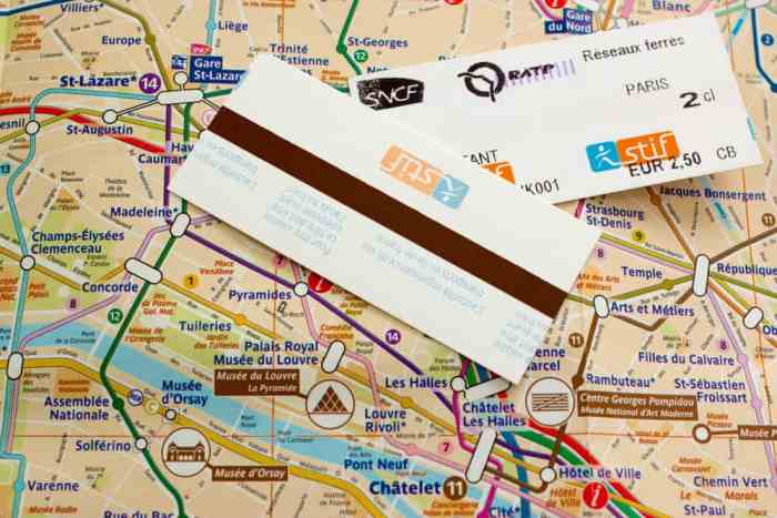 don't get the wrong Paris metro ticket or you will lose money
