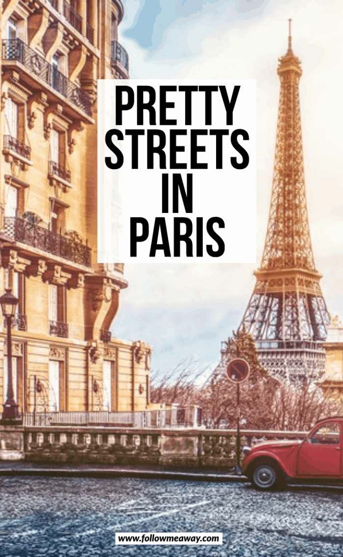 pretty streets in paris