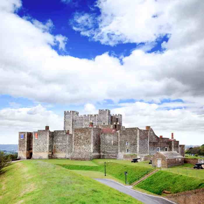 Dover Castle is one of the most popular castles near London