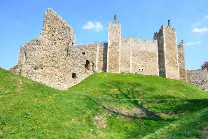 Framlingham Castle on a hill
