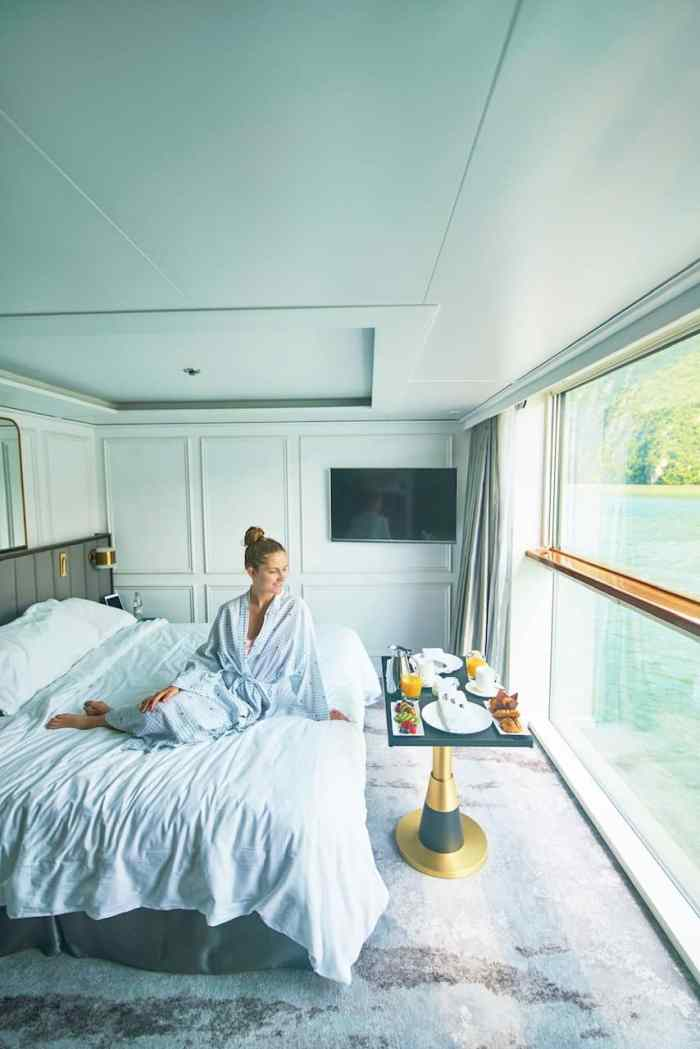 Morning room service on crystal river cruises