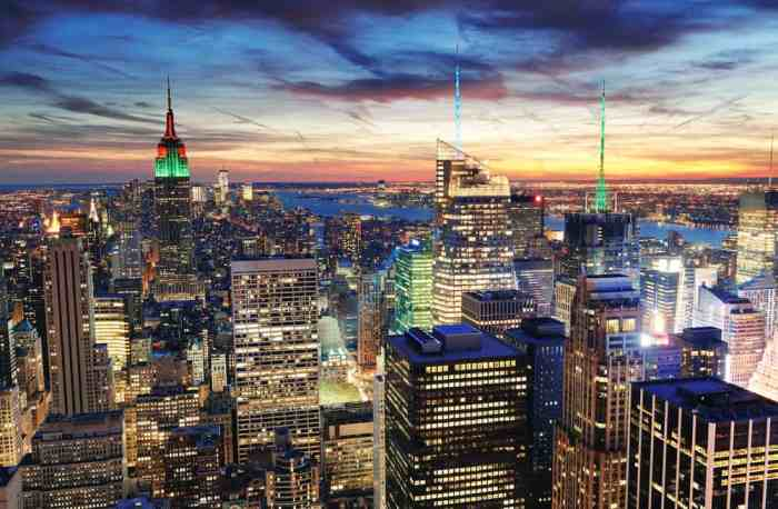 The New York City skyline, a must see on a trip to New York in a day