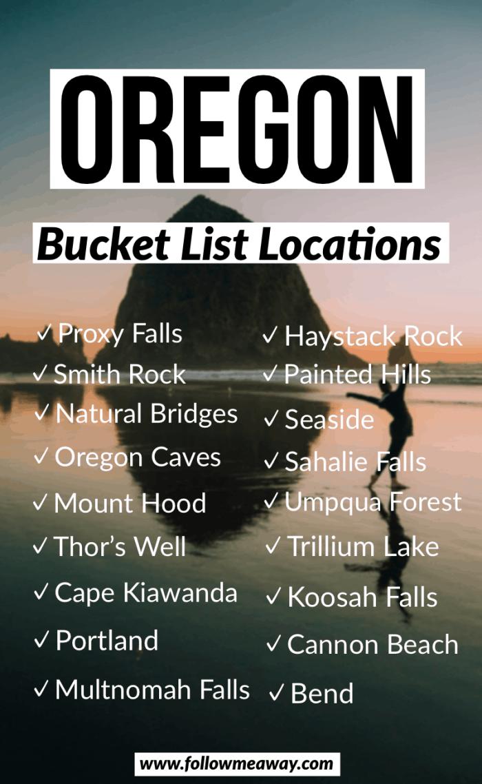 oregon bucket list locations