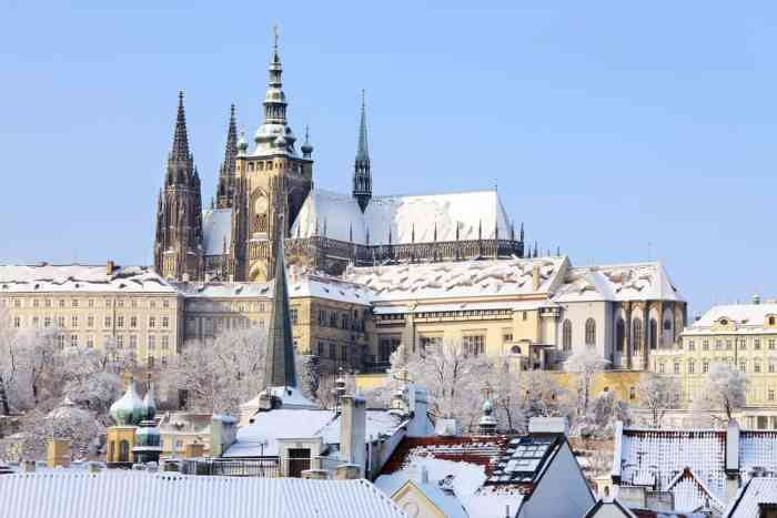 Prague Castle is a must-see on your travels in Prague in winter