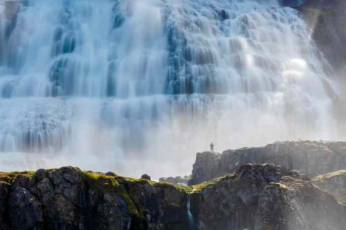 the Westfjords are where to stay in Iceland to see Dynjandi waterfall